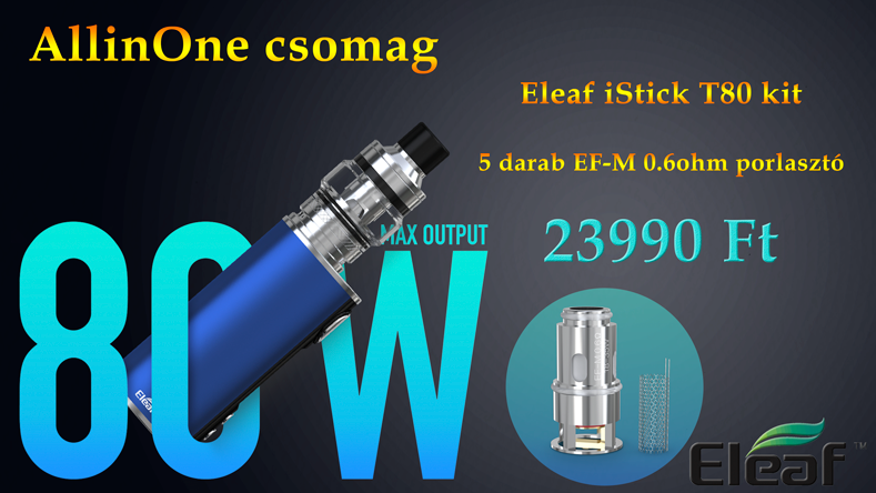All in One csomag ELEAF iStick T80